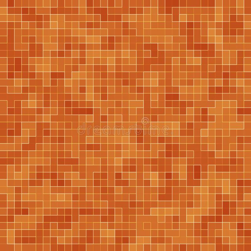 Abstract colorful geometric pattern, Orange, Yellow and Red stoneware mosaic texture background, Modern style wall royalty free illustration