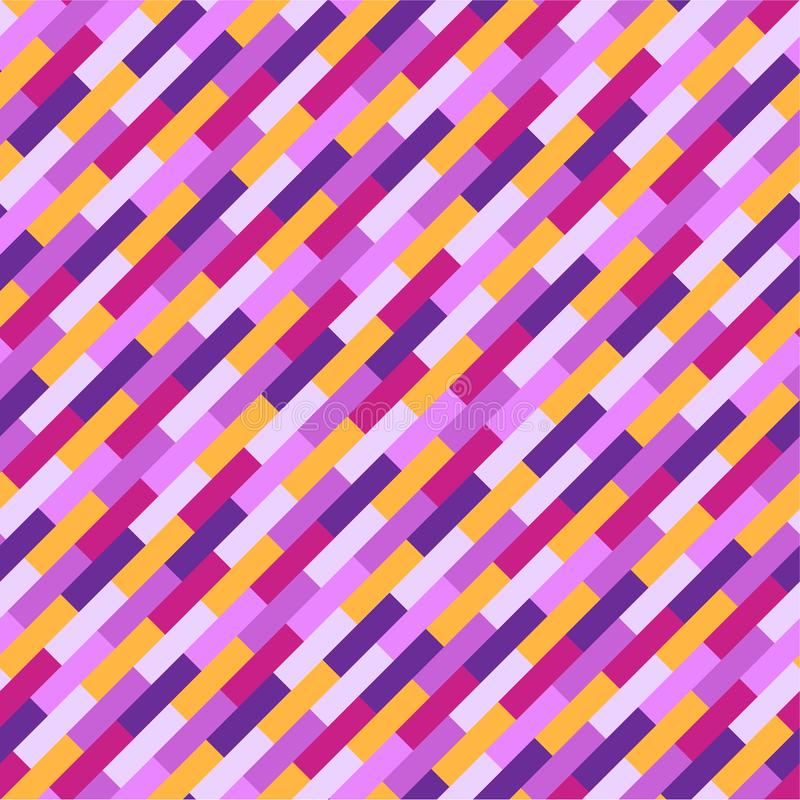 Abstract colorful geometric pattern, pink, purple and orange stripes royalty free illustration