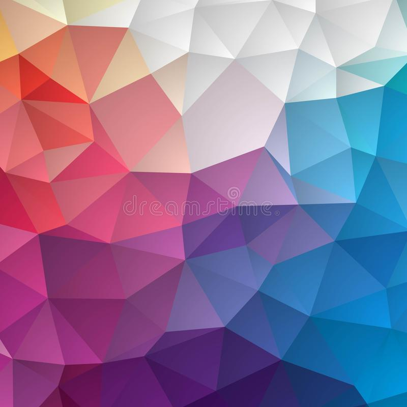 Abstract colorful geometric seamless pattern background with triangles and polygons shapes. Ideal for web and app template, book vector illustration