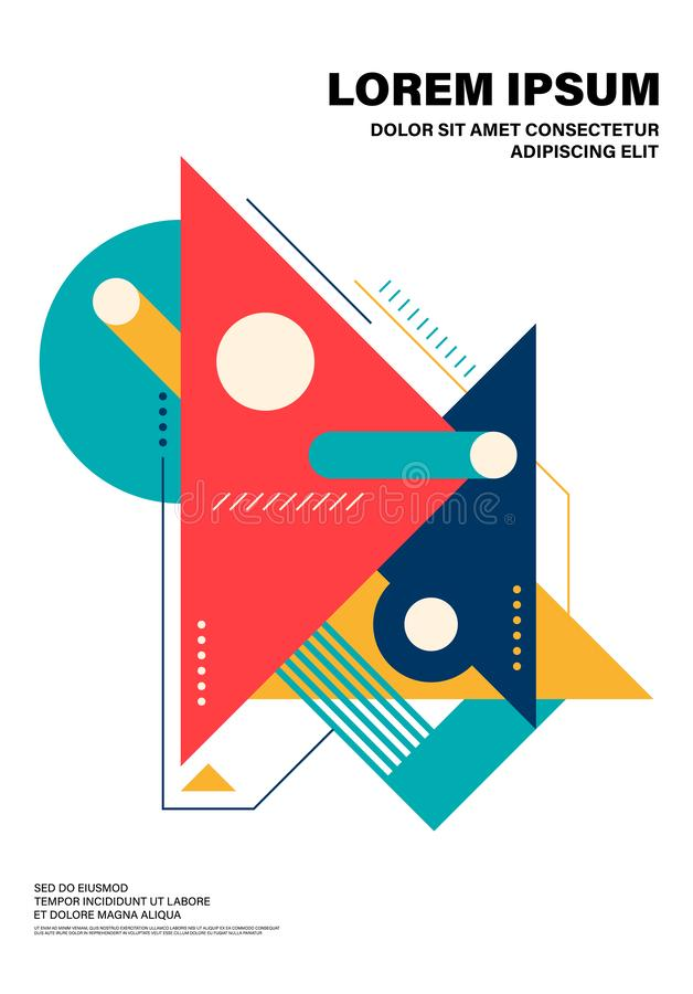 Abstract colorful geometric shape layout design template poster background royalty free illustration
