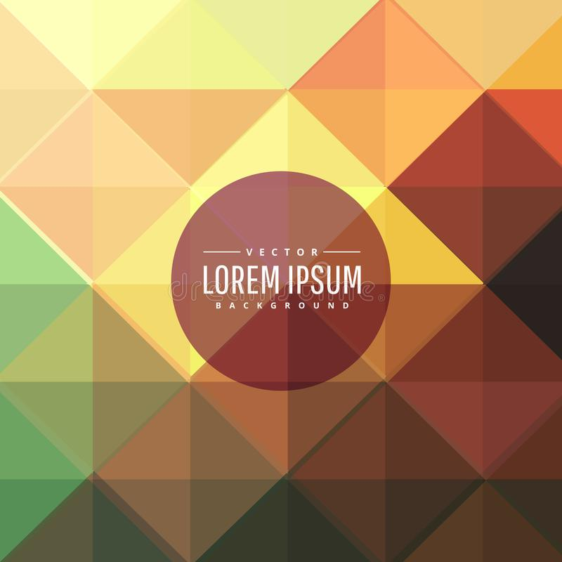 Abstract colorful geometric shapes background stock illustration