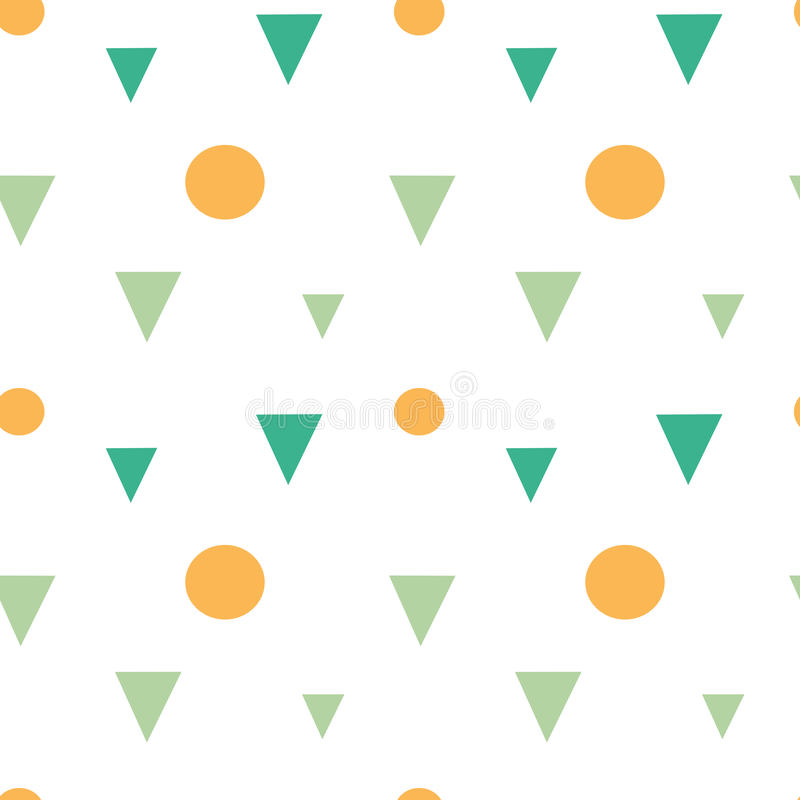Abstract colorful geometric shapes triangles and circles seamless pattern background illustration vector illustration