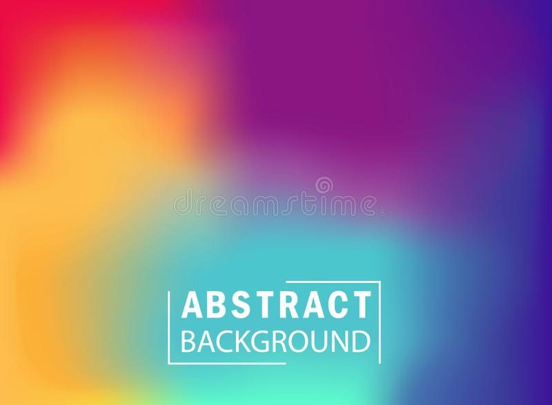 Abstract colorful gradient mesh background. Wallpaper with blurred and bright color of rainbow for landing page, website, banner. royalty free illustration