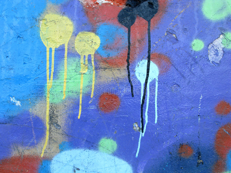 Abstract colorful graffiti stock photography