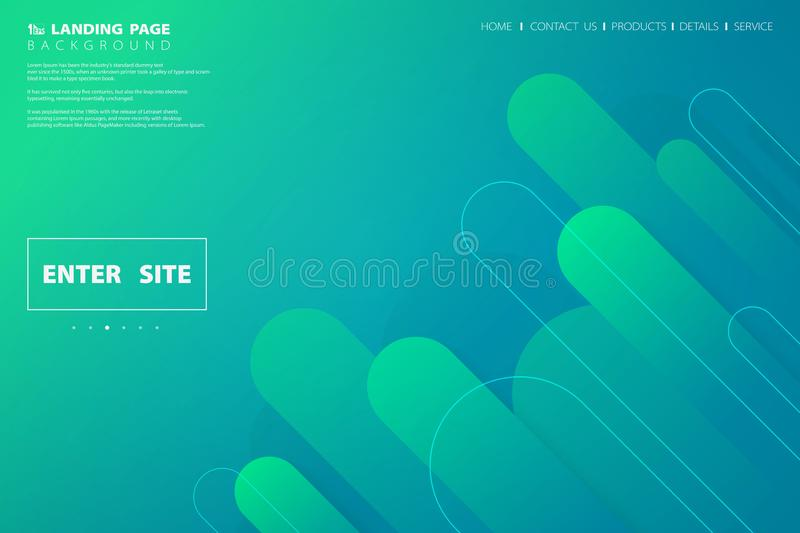 Abstract colorful green blue web landing page design geometric. illustration vector eps10 vector illustration