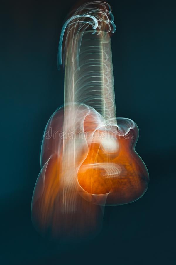 Abstract guitar curves music background royalty free stock images