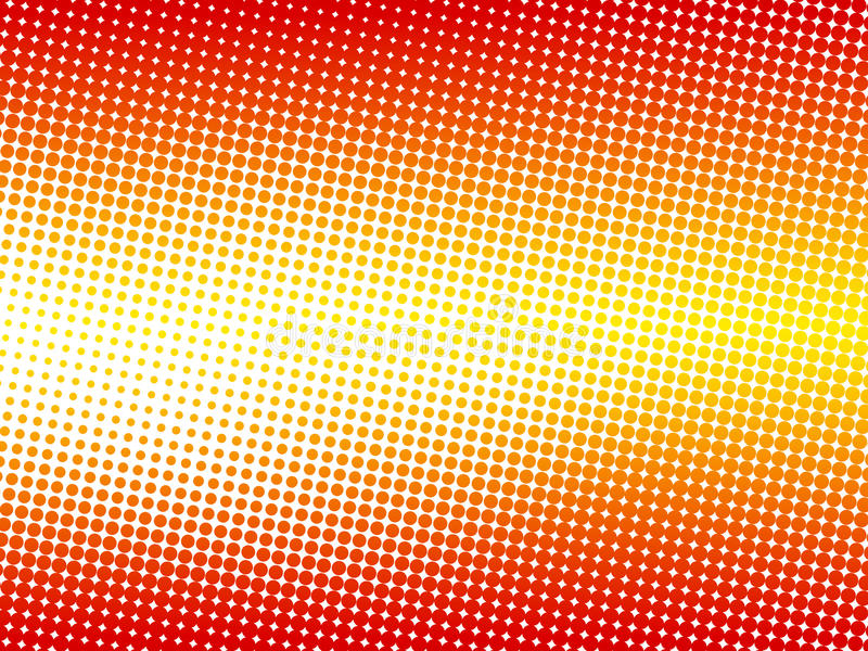 Abstract colorful halftone background stock illustration