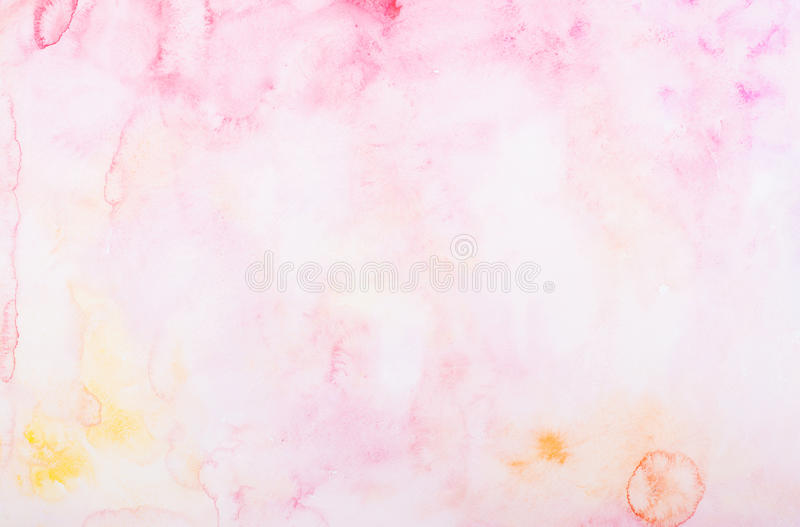 Abstract colorful hand draw watercolor aquarelle. Background stock images
