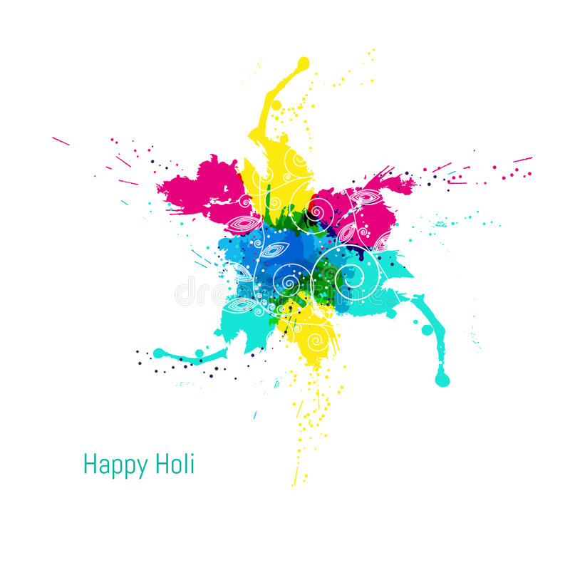 Abstract colorful Happy Holi background. Design for Indian Festival of Colours. royalty free stock images