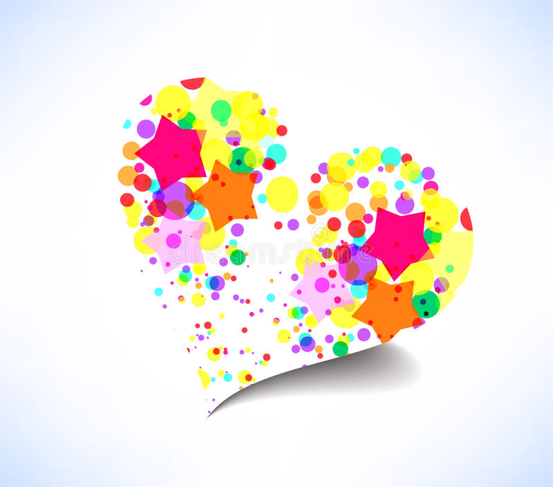 Abstract colorful heart background vector illustration