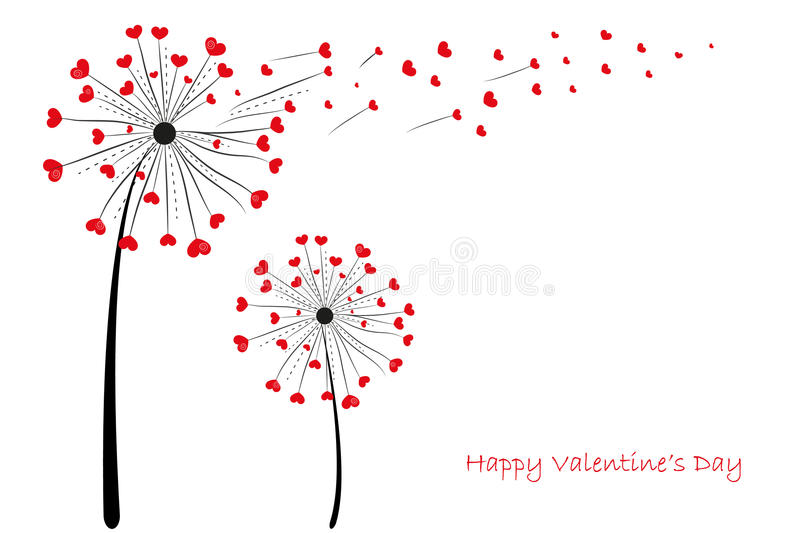 Abstract colorful heart dandelion spring time vector background. Abstract colorful heart dandelion spring time vector stock illustration