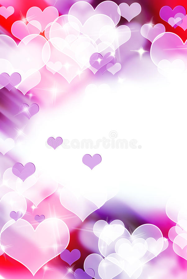Abstract colorful heart shape background stock illustration