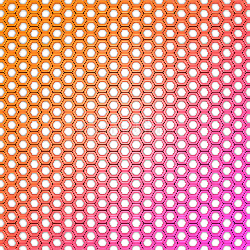 Abstract Colorful Hexagon Design Pattern Background royalty free illustration