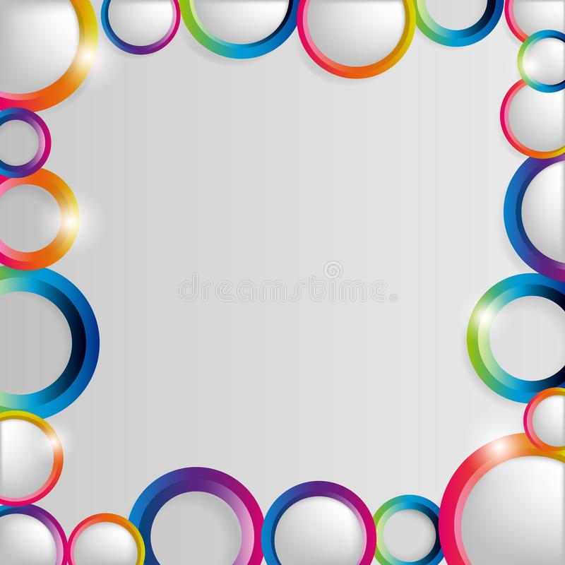 Abstract colorful hoop circles frame on a light background. Vector illustration vector illustration