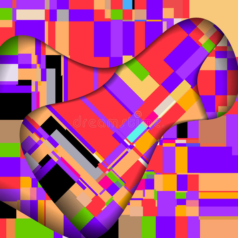 Abstract Colorful Illustration. Royalty Free Stock Image