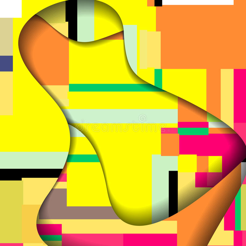 Abstract Colorful Illustration. Stock Photo