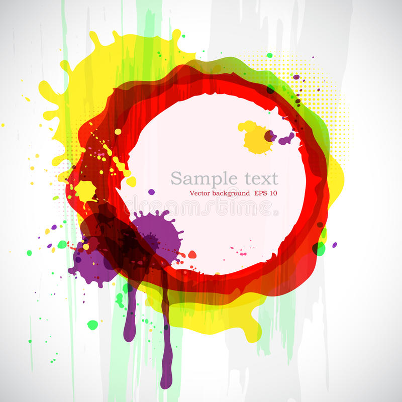 Abstract colorful ink blots. Vector background with place for your text vector illustration