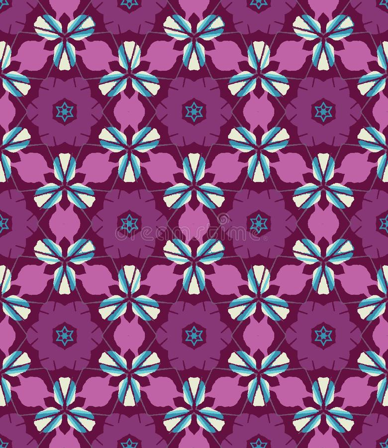 Abstract colorful kaleidoscope seamless pattern. Geometric floral vector background. Mosaic mandala graphic design swatch. vector illustration