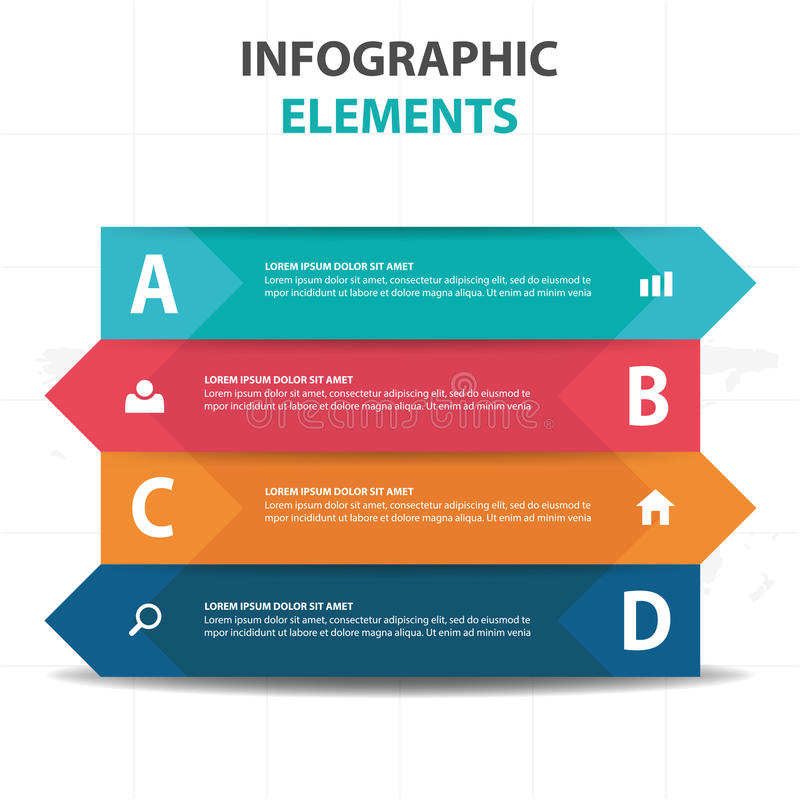 Abstract colorful label triangle business Infographics elements, presentation template flat design vector illustration royalty free illustration