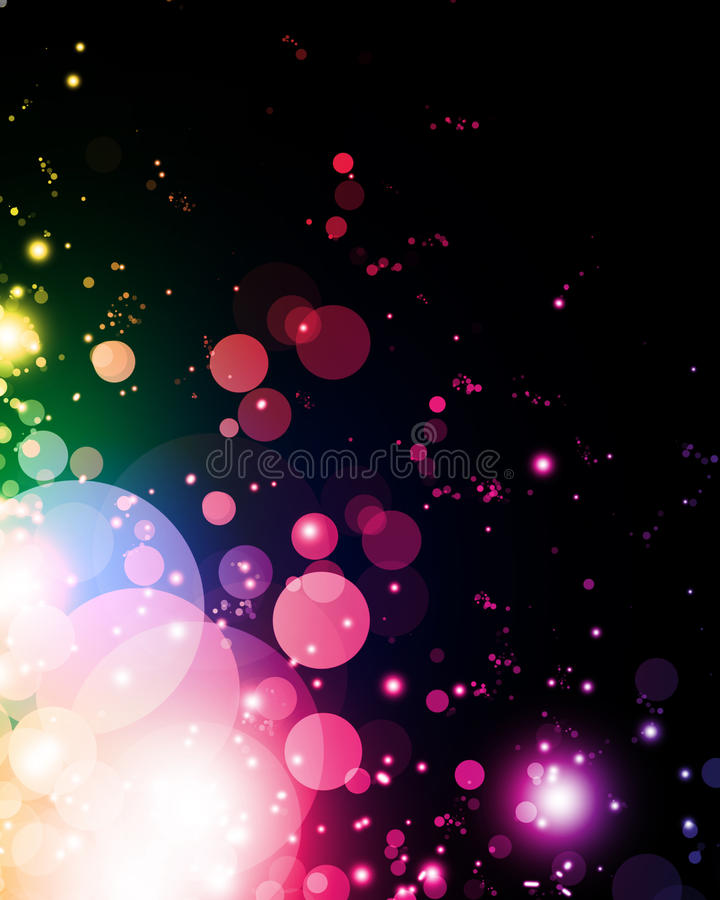 Abstract colorful light royalty free illustration