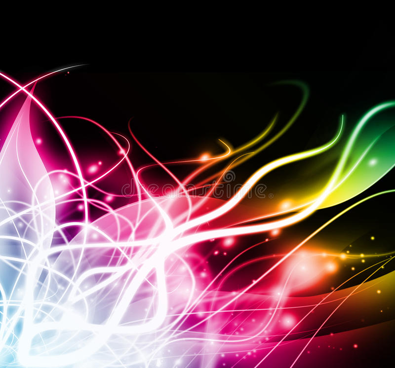 Abstract colorful light background. Abstract colorful light on black background