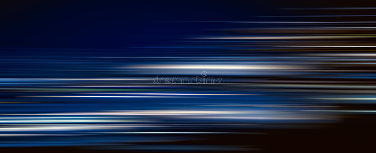Abstract colorful light trails in the dark background royalty free stock photos