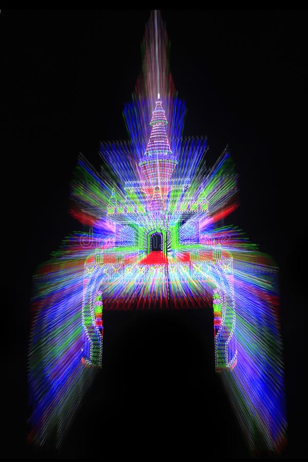 Free Abstract Colorful Lighting Gate. Royalty Free Stock Photos - 137499108