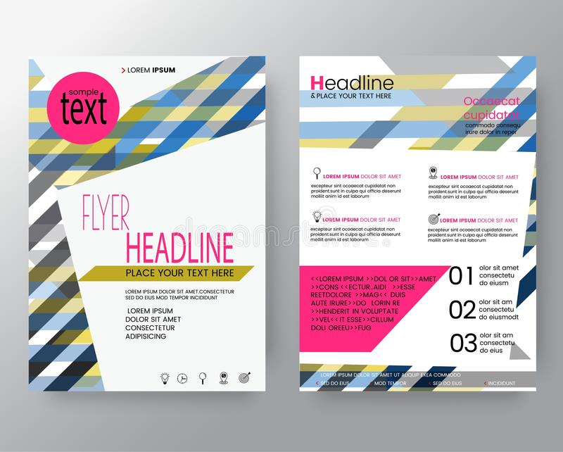 Abstract colorful line shape background for Poster Brochure Flyer design Layout template in A4 size stock illustration