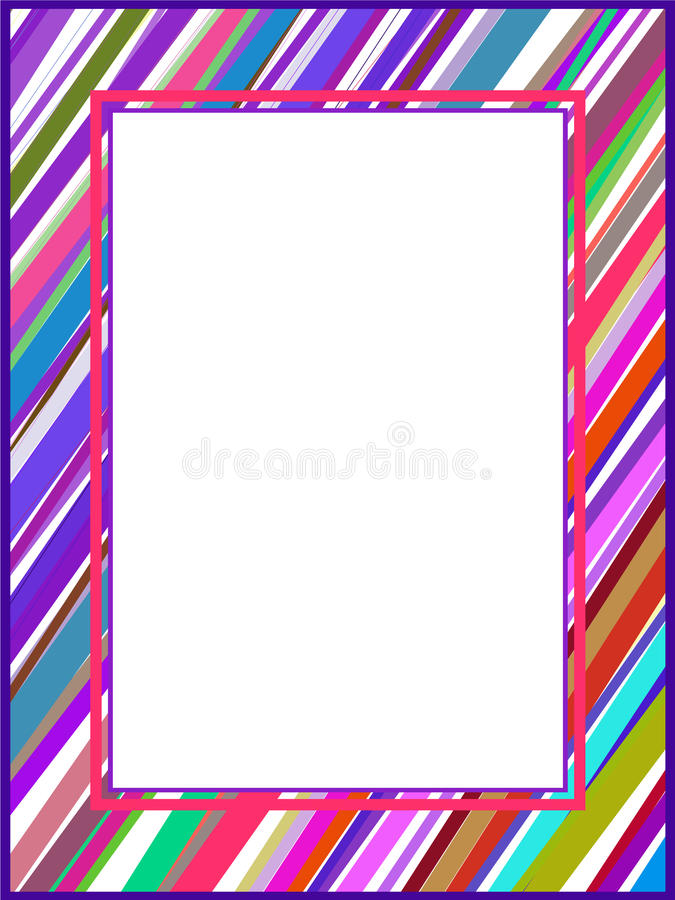 Abstract colorful lines frame vector illustration