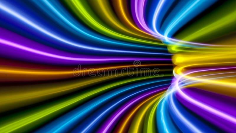 Abstract of colorful lines royalty free stock photo
