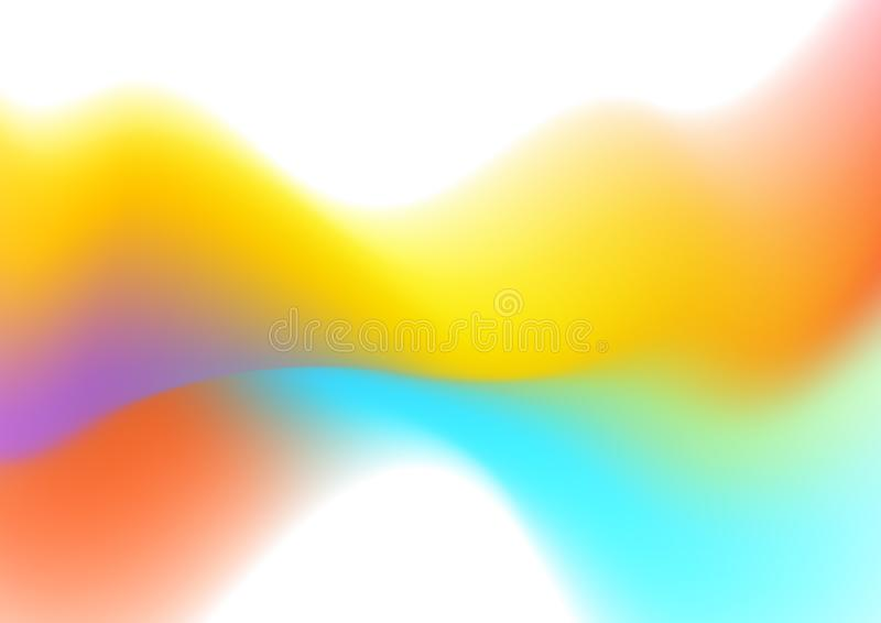 Abstract colorful liquid wave shiny background stock illustration