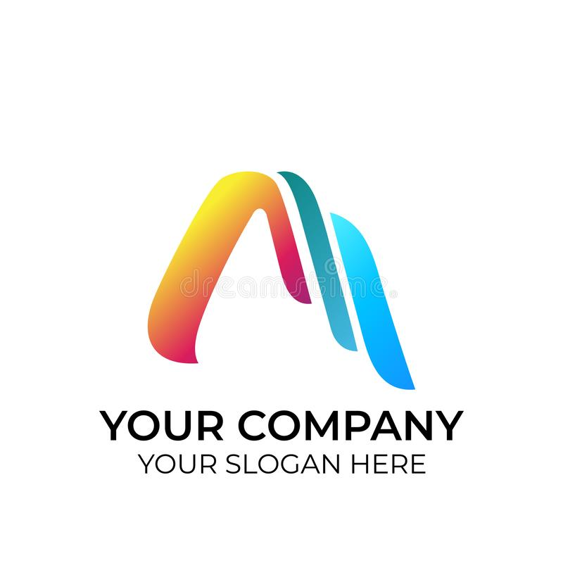 Abstract colorful logo royalty free illustration