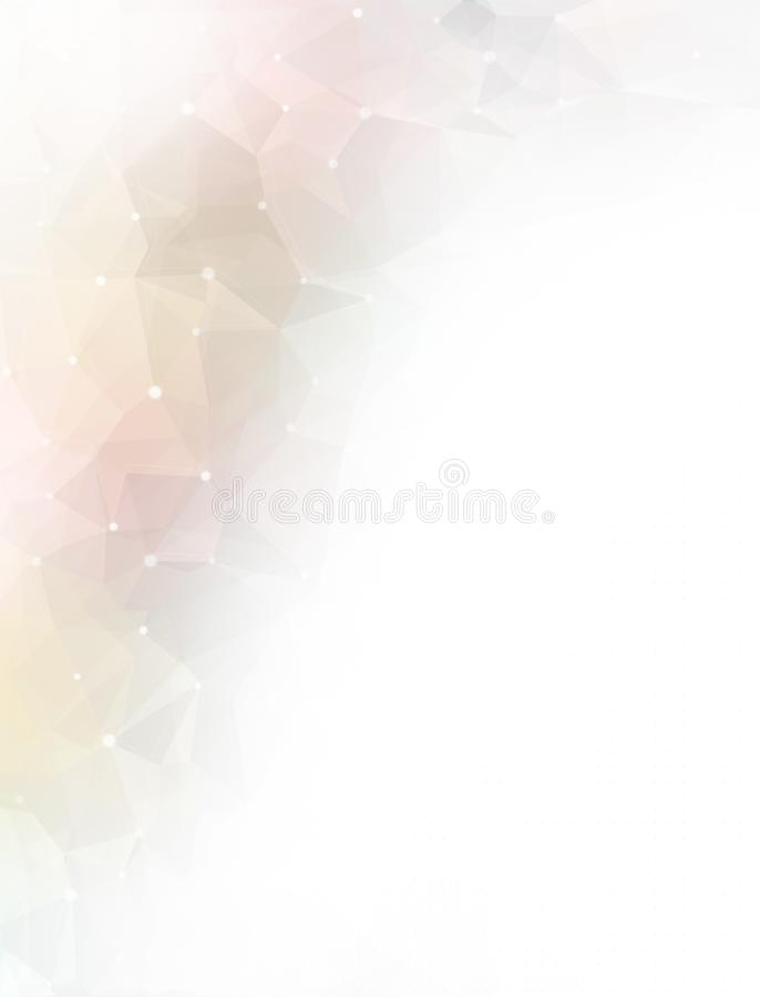 Abstract colorful low poly background stock illustration