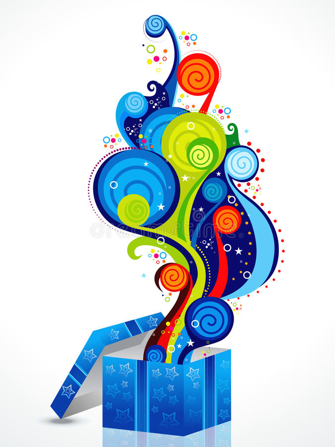 Abstract colorful magic box royalty free illustration