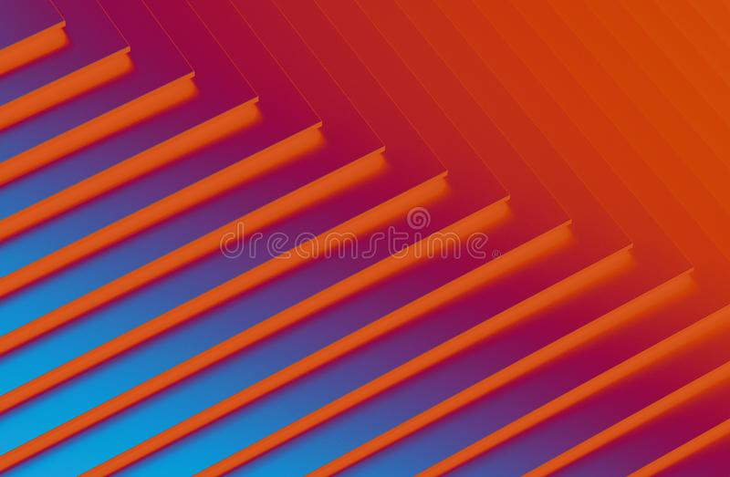 The abstract colorful metal pattern background. 3D illustration.  vector illustration