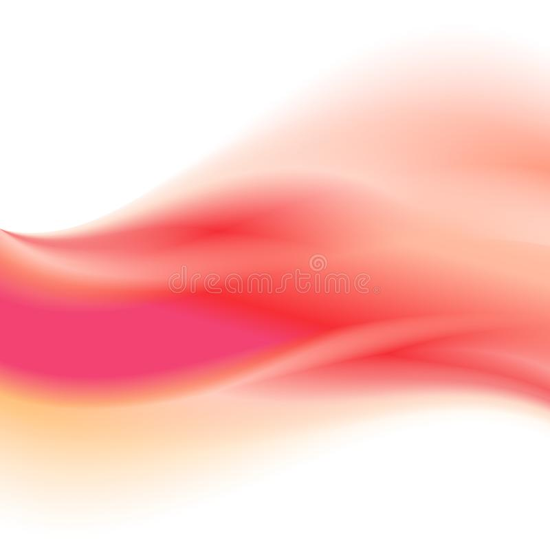 Pink gradient abstract wave background with colors transition for artwork stock illustration