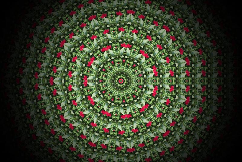 Abstract colorful modern circle mandala and kaleidoscope pattern royalty free illustration