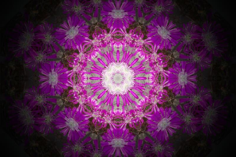 Abstract colorful modern circle mandala and kaleidoscope pattern stock illustration