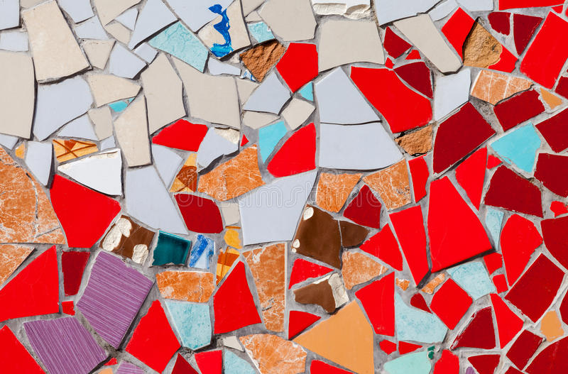 Abstract colorful mosaic texture stock photography