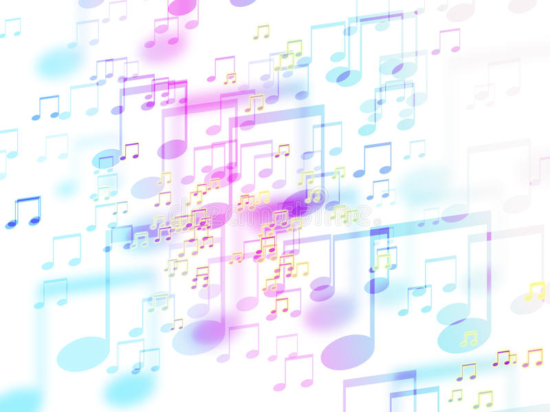 Abstract colorful music sign background stock illustration