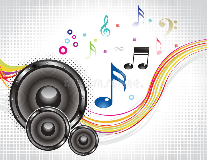Abstract Colorful Musical Wave With Sound Royalty Free Stock Images