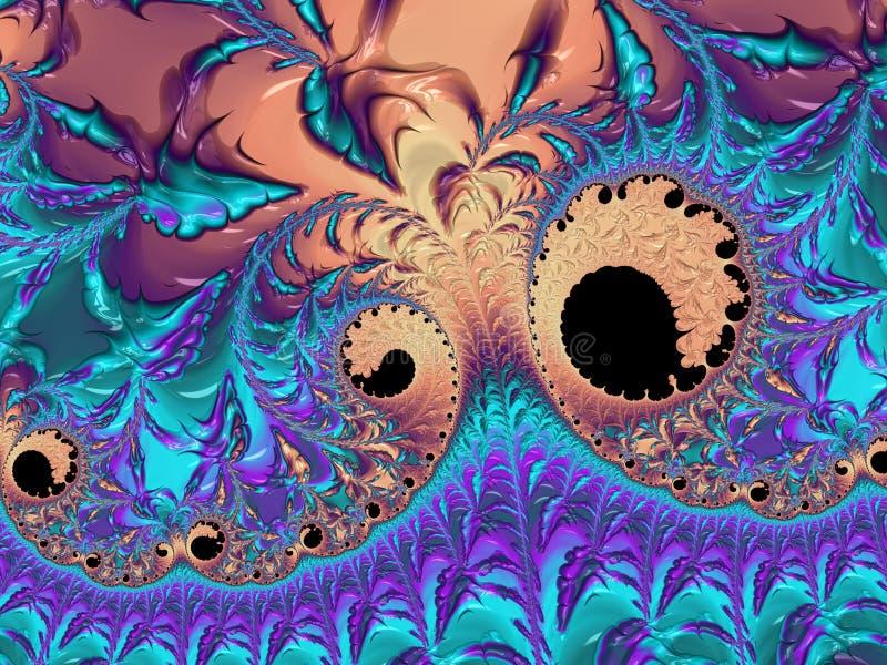 Abstract colorful neon textured spiral fractal, 3d render for creative art, design and entertainment. Background for brochure,. Website, flyer design vector illustration
