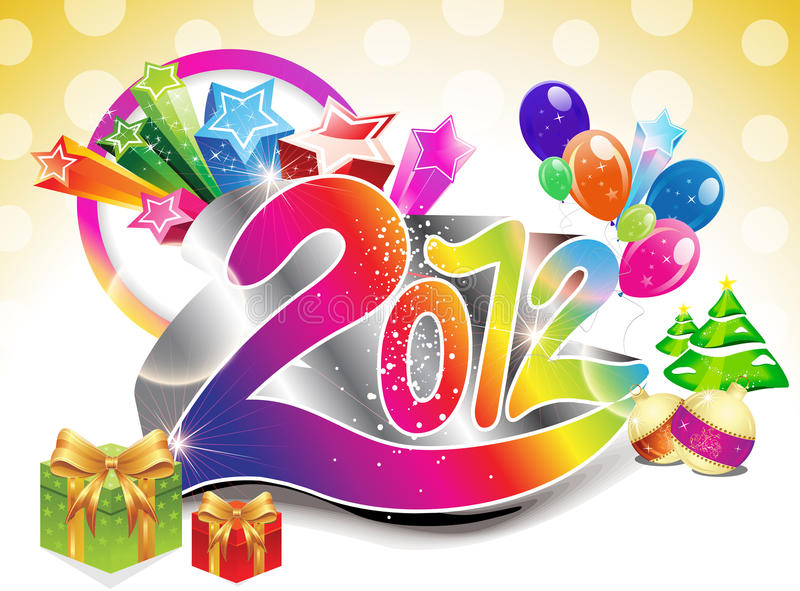 Abstract colorful new year background royalty free illustration