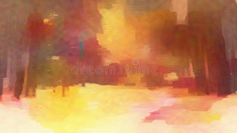Abstract Oil Painting. An Abstract Colorful Oil Painting royalty free stock image