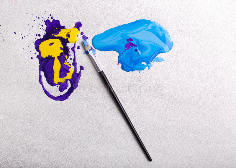 Abstract colorful paint royalty free stock photos