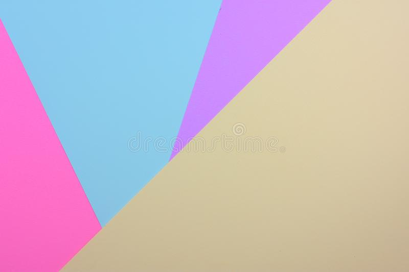 Abstract colorful paper layer background with pink blue sky mallow and purple tone. S by paper made stock images