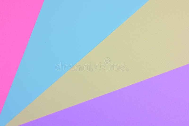 Abstract colorful paper layer background with pink blue sky mallow and purple tones. royalty free stock photography