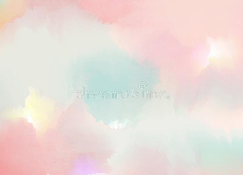 Abstract colorful pastel watercolor with copy space for place yo stock illustration