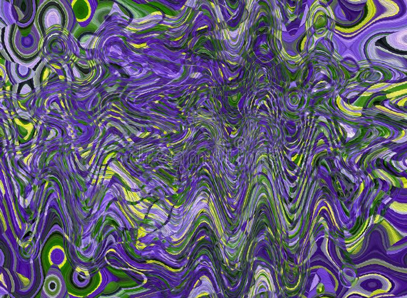 Abstract colorful pattern with unique texture. Water and liquid royalty free illustration