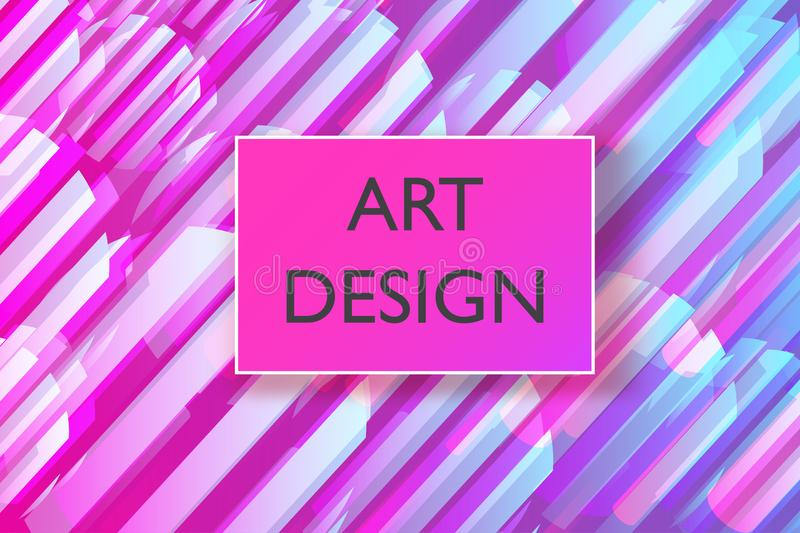 Abstract colorful playful banner background with fun texture design element. Vector illustration.  stock illustration